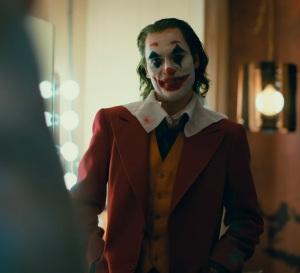 Arthur Fleck Joker costume talk show the Joker movie Joaquin Phoenix