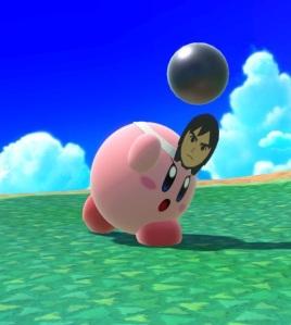 Kirby as Mii Brawler super Smash Bros ultimate Nintendo Switch