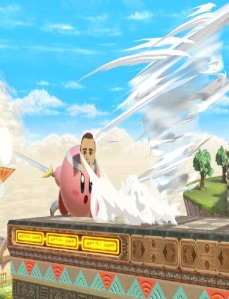 Kirby as Mii Swordfighter super Smash Bros ultimate Nintendo Switch
