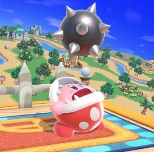 Kirby as Piranha plant super Smash Bros ultimate Nintendo Switch