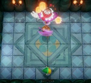 Genie juggling fireballs the Legend of Zelda Link's Awakening Nintendo Switch Remake