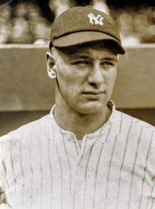 New York yankee lou Gehrig