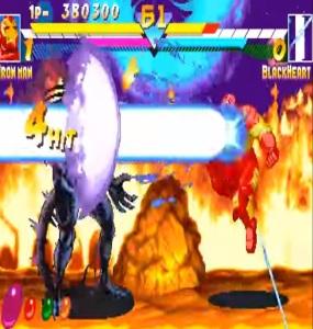 Iron man vs blackheart Marvel super heroes arcade  Capcom