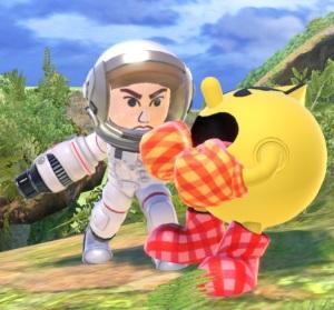 Pac-Man vs Mii Gunner super Smash Bros ultimate Nintendo Switch