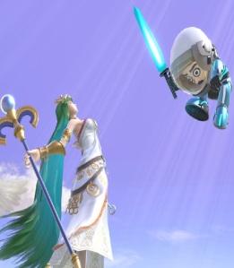 Lady palutena counters Mii Swordfighter super Smash Bros ultimate Nintendo Switch