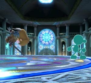 Mr game and watch vs Mii Swordfighter super Smash Bros ultimate Nintendo Switch