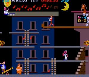2nd stage Popeye Nintendo arcade game