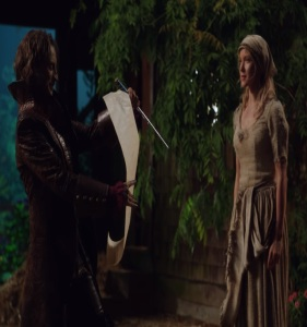 Rumplestiltskin makes contract for Cinderella once upon a time ABC