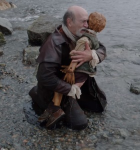 Geppetto crying over Pinocchio once upon a time ABC