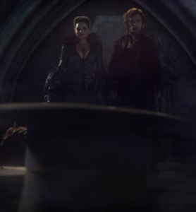 Evil Queen Regina and Mad Hatter Jefferson once upon a time ABC Sebastian Stan
