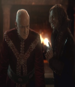 Rumplestiltskin and King George once upon a time ABC