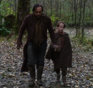 Malcolm and his son Rumplestiltskin once upon a time ABC Stephen Lord