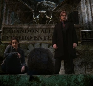 Milah and Rumplestiltskin river Styx once upon a time ABC Rachel Shelley