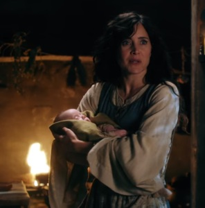 Milah with baby baelfire once upon a time ABC Rachel Shelley
