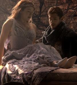 Princess Aurora wakes from sleeping curse once upon a time ABC Sarah Bolger
