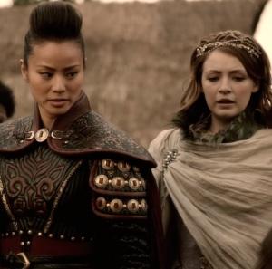 Mulan guarding Princess Aurora once upon a time ABC Sarah Bolger