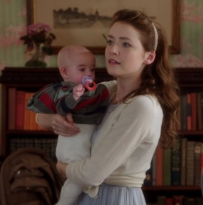 Princess Aurora holding her baby once upon a time ABC Sarah Bolger