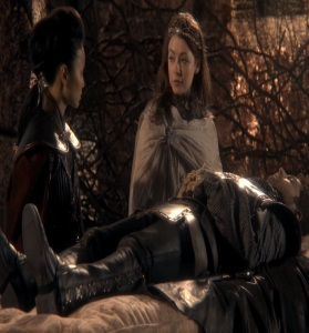 Princess Aurora and Mulan find prince Philip once upon a time ABC Sarah Bolger