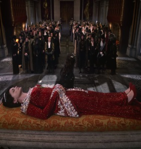 Queen Eva funeral once upon a time Rena Sofer