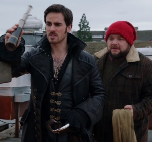 William Smee and Hook in Storybrooke Maine once upon a time ABC Chris Gauthier
