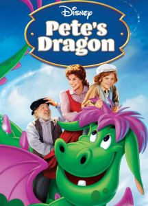 Pete's Dragon disney movie DVD cover