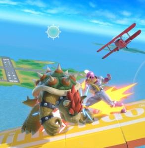 Bowser vs captain Falcon Pilotwings Stage super Smash Bros ultimate Nintendo Switch