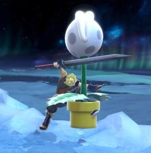 Piranha plant vs cloud strife super Smash Bros ultimate Nintendo Switch