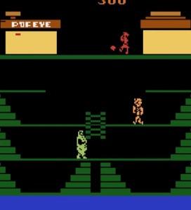 Nintendo Popeye Atari 2600 version