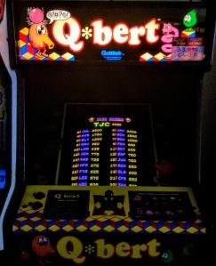 Q*bert arcade cabinet machine