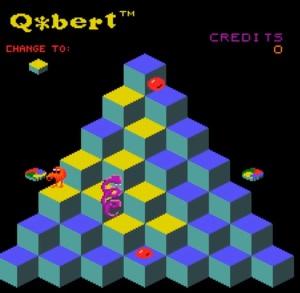 Q*bert arcade game level 1