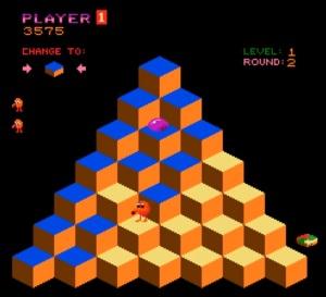 Classic arcade game Q*bert