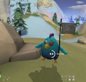 Blue chicken with flag Realm Royale Nintendo Switch pc Xbox one PS4