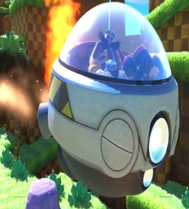 Eggman flying away sonic forces Nintendo Switch Xbox One PS4 Sega