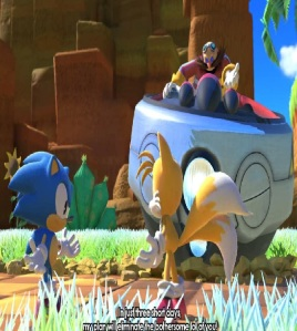 Eggman yelling at classic Sonic and tails sonic forces Nintendo Switch Xbox One PS4 Sega
