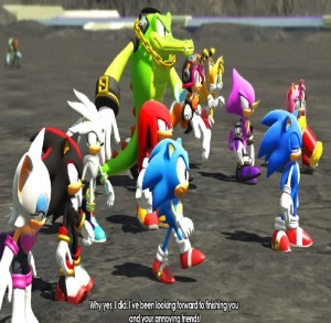 Sonic and friends stand up to Infinite sonic forces Nintendo Switch Xbox One PS4