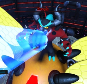 Sonic attacking Zavok sonic forces Nintendo Switch Xbox One PS4 Sega