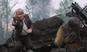 Han Solo and Chewbacca Star Wars The Force Awakens Harrison Ford