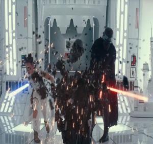 Rey and kylo ren lightsabers Star Wars The Rise of Skywalker daisy Ridley Adam driver