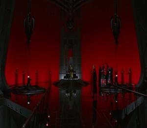 Snoke on the throne Star Wars The Last Jedi