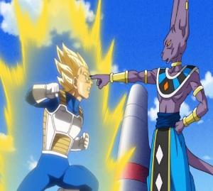 Lord Beerus takes ssj2 vegeta out Dragon Ball Super