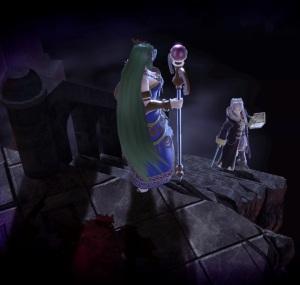 Palutena vs Robin Dracula's Castle Stage super Smash Bros ultimate Nintendo Switch Konami Castlevania
