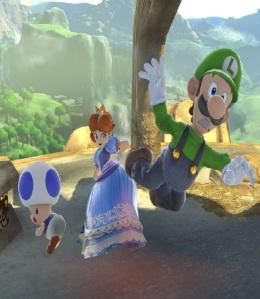 Princess Daisy vs Luigi Great Plateau Tower Stage super Smash Bros ultimate Nintendo Switch