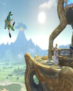Princess Zelda vs inkling Great Plateau Tower Stage super Smash Bros ultimate Nintendo Switch