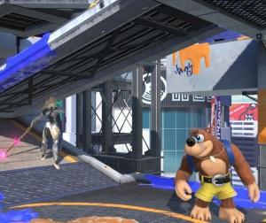 Corrin vs banjo and Kazooie Moray Towers stage super Smash Bros ultimate Nintendo Switch splatoon