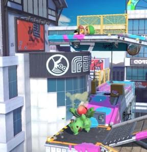 Ivysaur vs Ness Moray Towers stage super Smash Bros ultimate Nintendo Switch splatoon