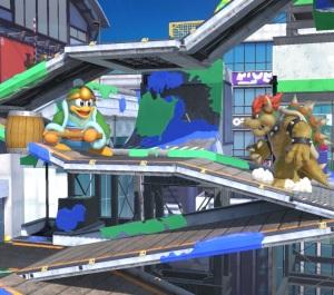 King dedede vs Bowser Moray Towers stage super Smash Bros ultimate Nintendo Switch splatoon