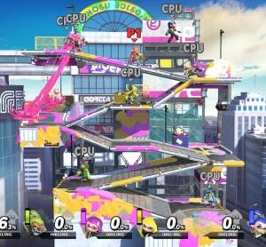 Moray Towers stage super Smash Bros ultimate Nintendo Switch splatoon