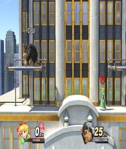 Donkey Kong vs princess peach New Donk City Hall Stage super Smash Bros ultimate Nintendo Switch