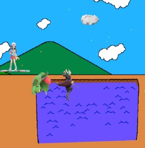 Ivysaur vs Robin Pac-Land Stage super Smash Bros ultimate Nintendo Switch Namco