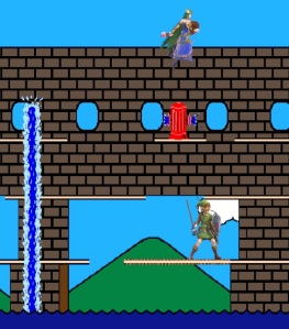 Palutena vs link Pac-Land Stage super Smash Bros ultimate Nintendo Switch Namco